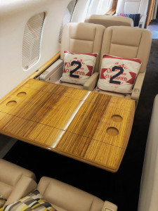 2008 Bombardier Challenger 605: Aft Conference Group - table extended