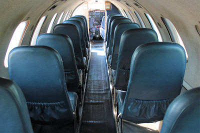 1986 Fairchild Metro III: Interior from Aft