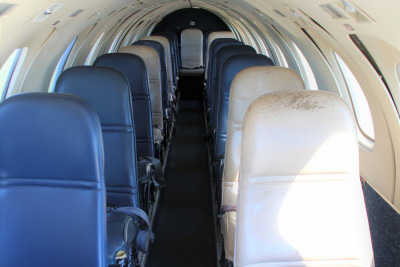 1986 Fairchild Metro III: Interior from Forward