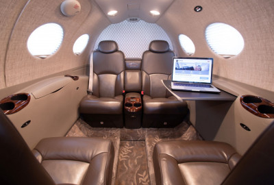 2012 Cessna Citation Mustang: Interior, cabin from fwd, right table